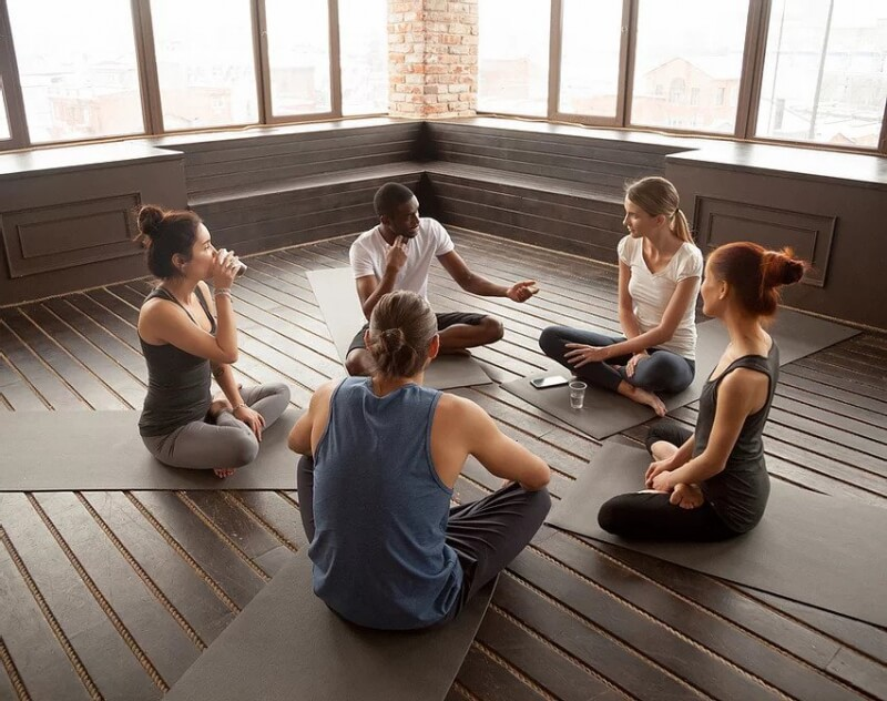 yoga therapy class