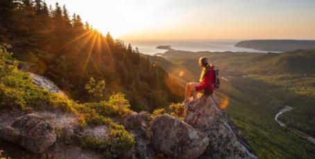 Lookout hiking trail, Cape Breton Island